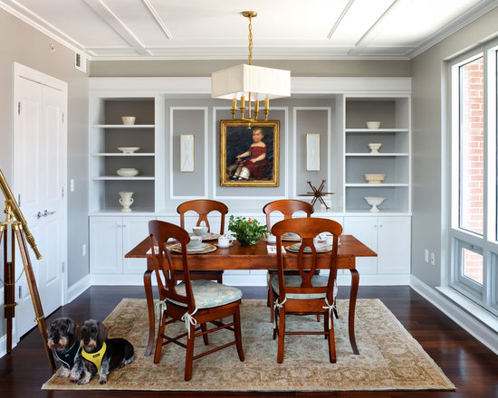 Ceiling trim home design ideas pictures remodel and decor for Houzz dining room wall art