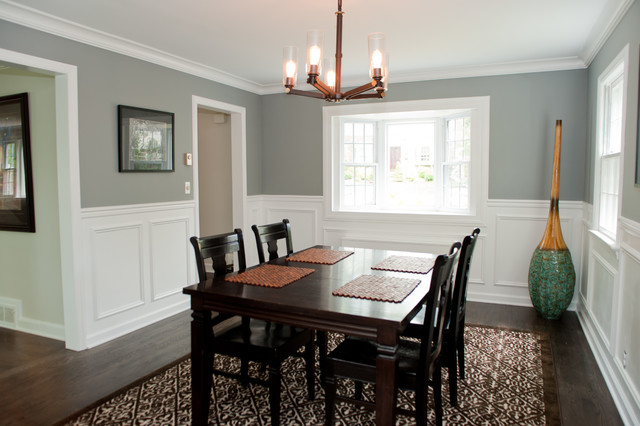 Dining Area With Wainscoting ~ West caldwell renovation traditional dining room new