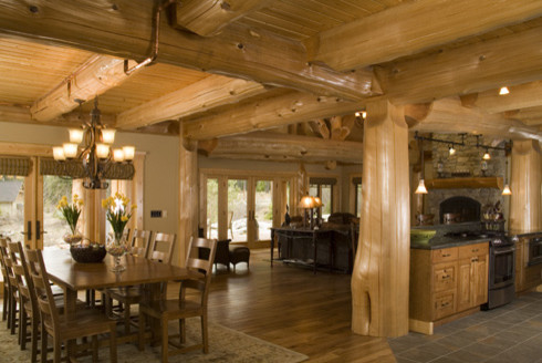 West coast log homes for Coastal craftsman interiors