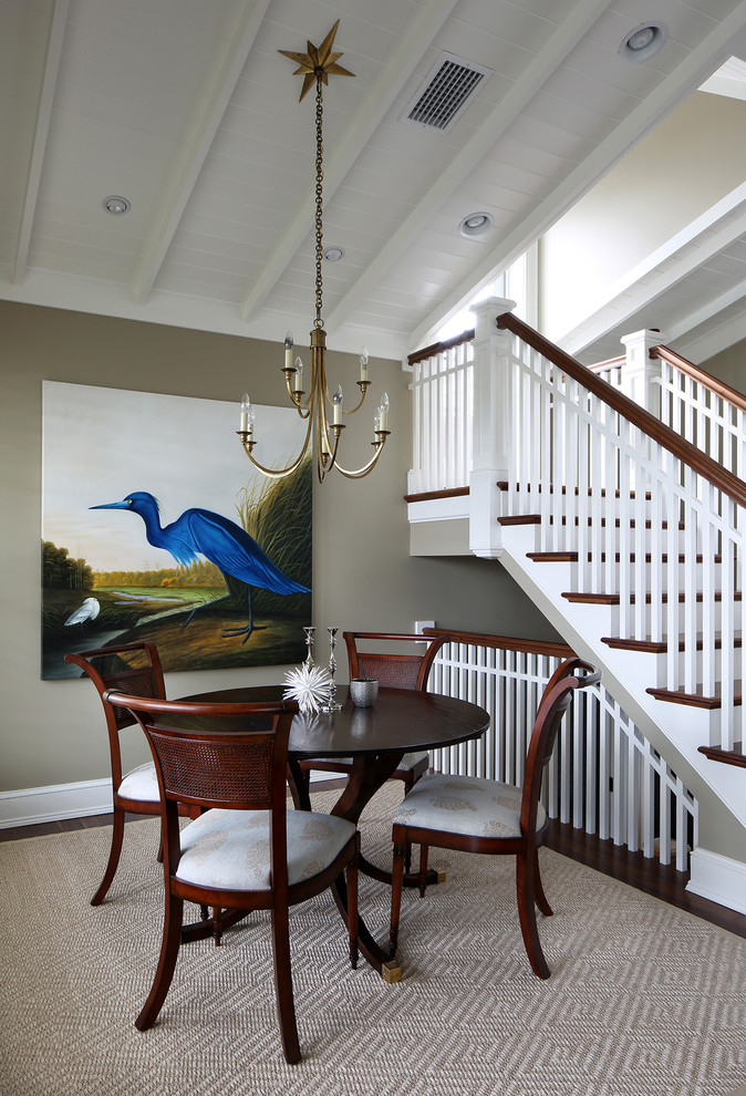 Island style dining room photo in Tampa