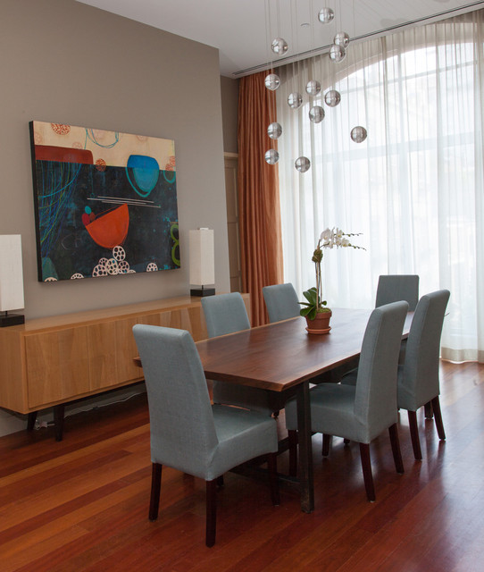 West Village apartment contemporary-dining-room