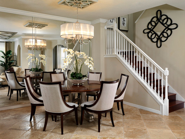 Westchase Residence contemporary-dining-room