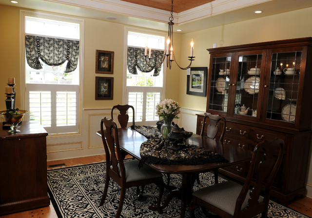 Westchester model home traditional dining room new for Model home dining room