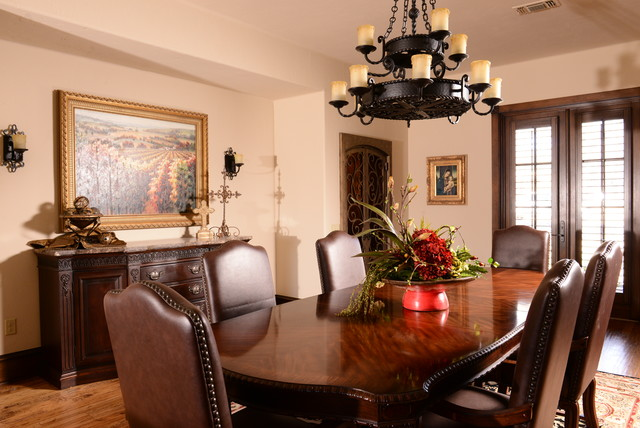 Western traditional rustic dining room dallas by for Western dining room ideas
