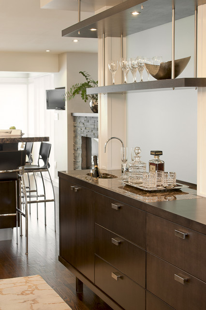 Wet bar contemporary dining room toronto by leslie for Best dining rooms houzz