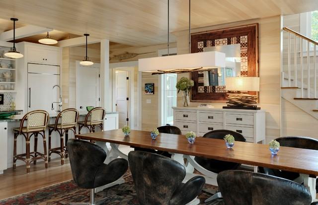 Wharf House beach-style-dining-room