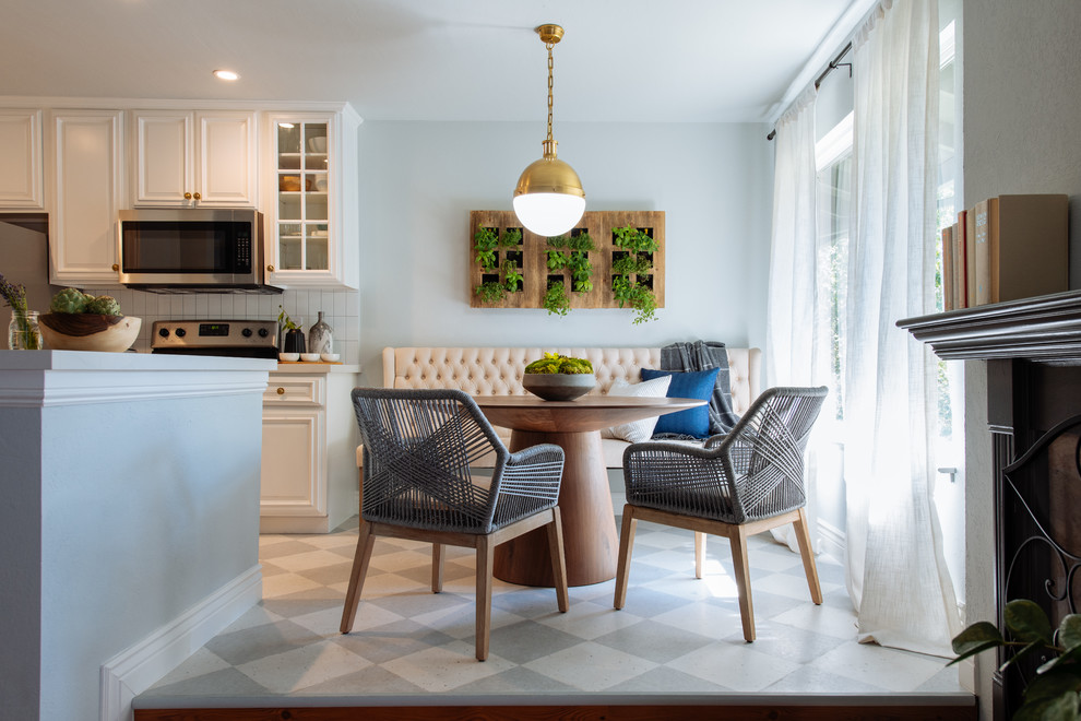 Inspiration for a transitional dining room remodel