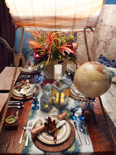 Where to next? Table Top eclectic-dining-room