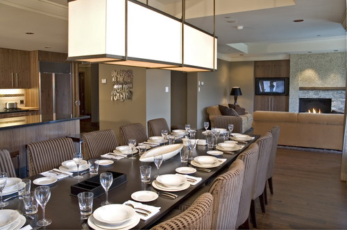 While at CHil Design Group contemporary dining room