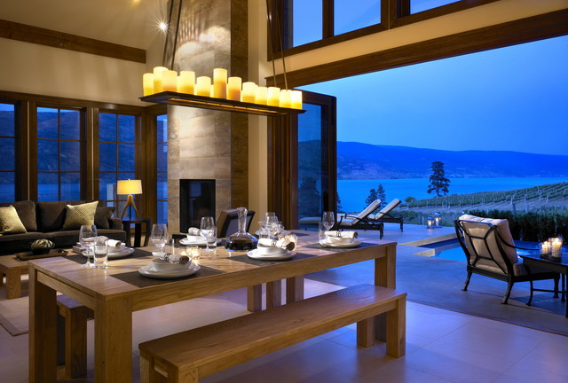 While at CHil Design Group contemporary-dining-room