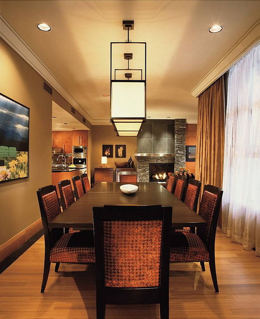 While at CHil Desin Group contemporary-dining-room