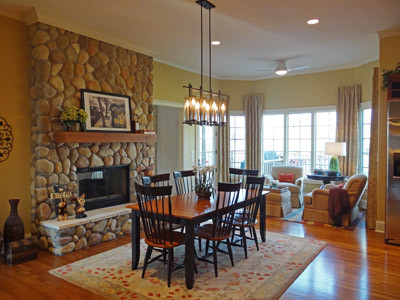 Whimsical Facelift and Furnish contemporary-dining-room