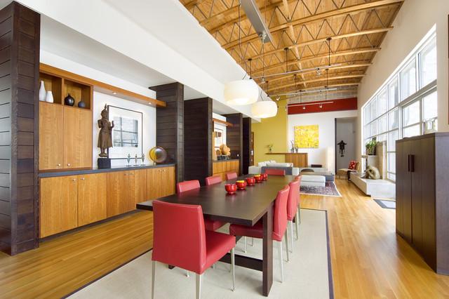 White Rock House modern-dining-room