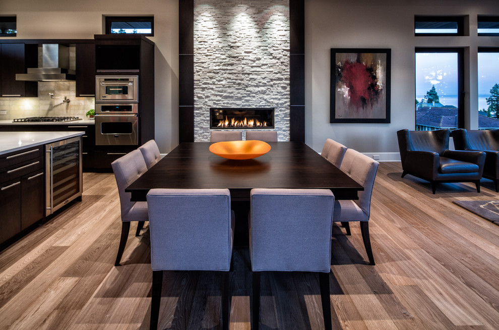 Example of a trendy dining room design in Vancouver