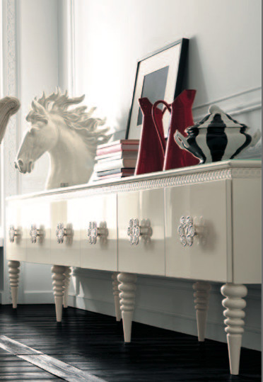 White sideboard by AltaModa eclectic-dining-room