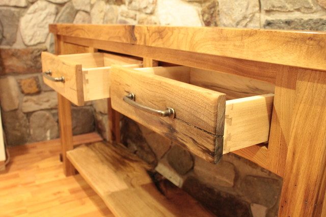 White Walnut Console Table traditional-dining-room