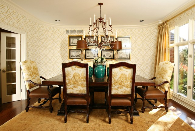 Traditional Dining Room by Tiffany Farha Design