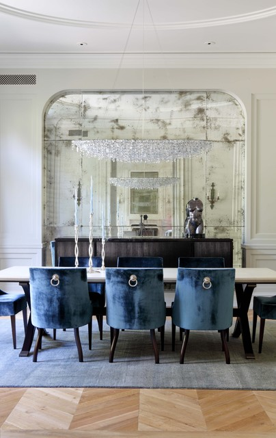 William Hefner Architecture Interiors & Landscape transitional dining room