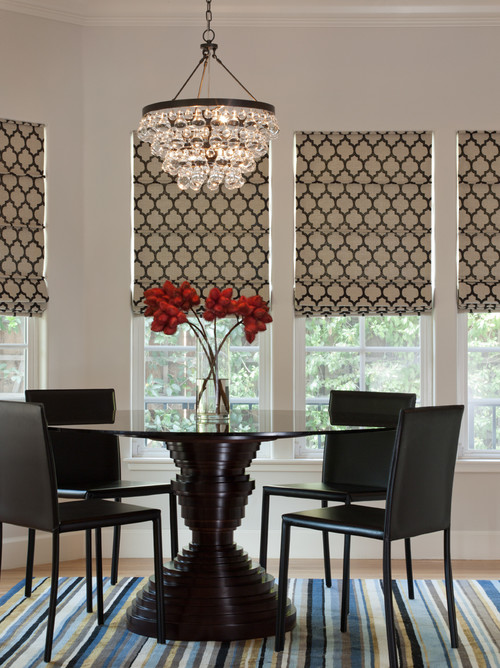Window treatment ideas for Dining room window treatments