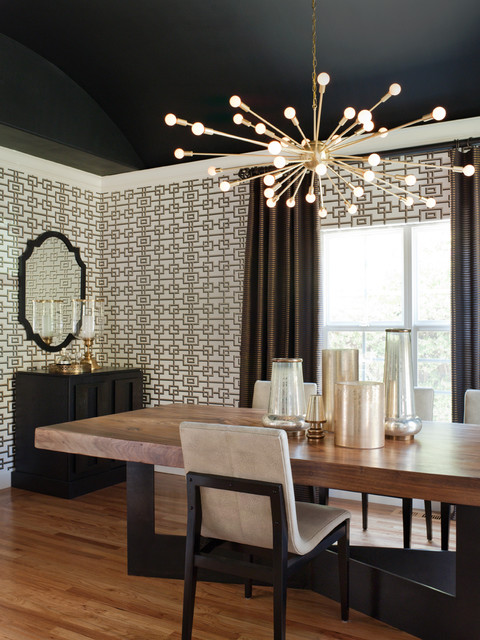 Attractive Willow Glen Residence Transitional Dining Room