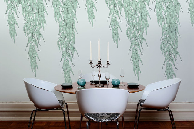 Willow wallpaper modern dining room detroit by the for Modern wallpaper designs for dining room