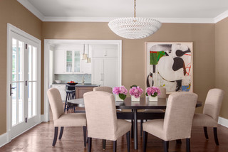Wilmette Family Home Transitional Dining Room