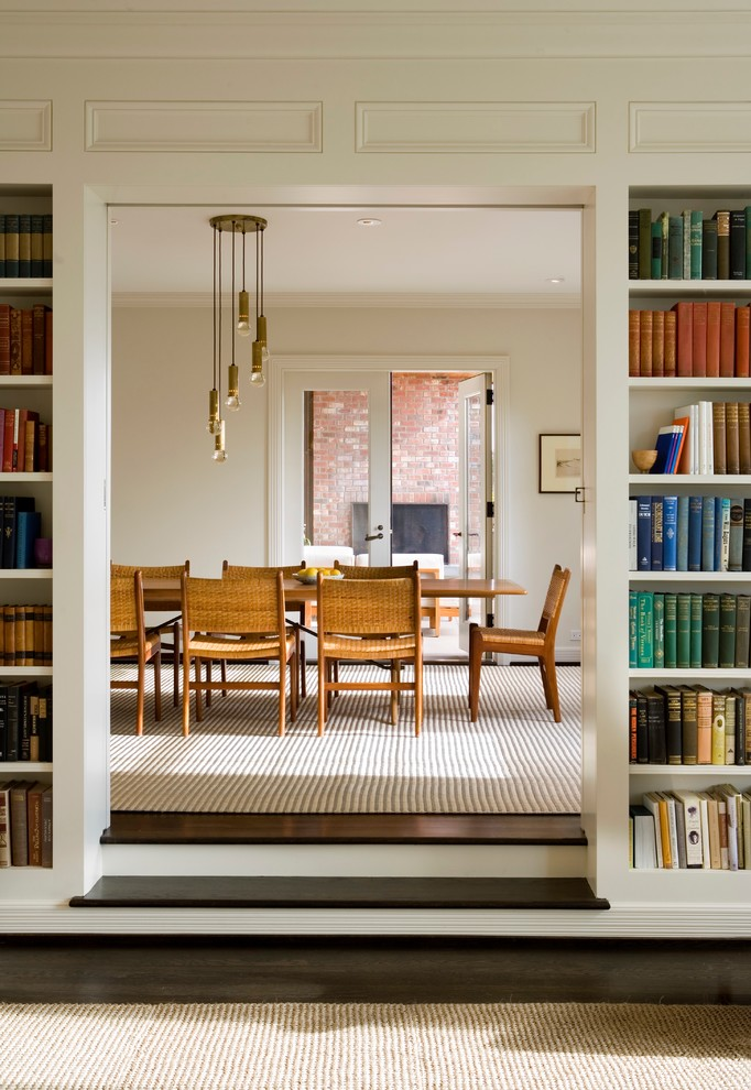 Inspiration for a contemporary dining room remodel in Seattle