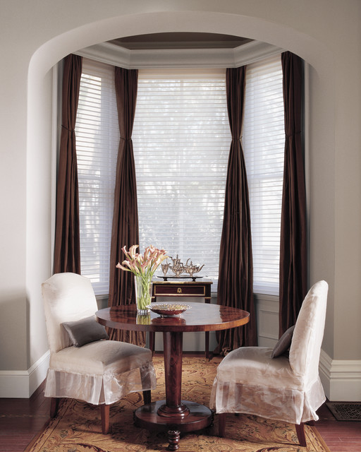 window coverings custom window treatments traditional dining room