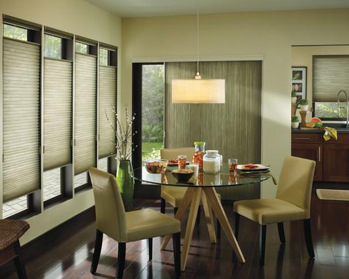 Modern Dining Room by Longmeadow Window Treatments Lisa Scheff Designs