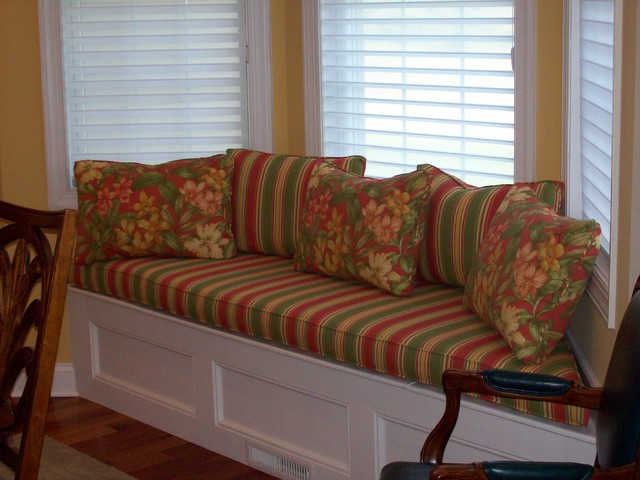 Window Seat tropical dining room