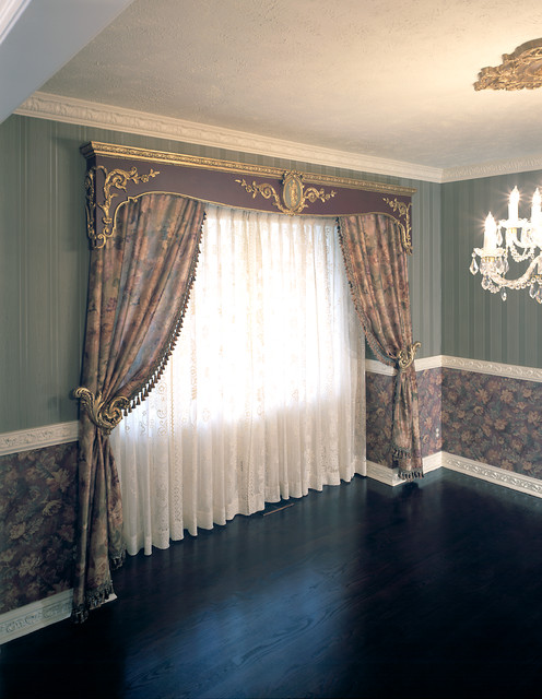 window treatments traditional dining room omaha by