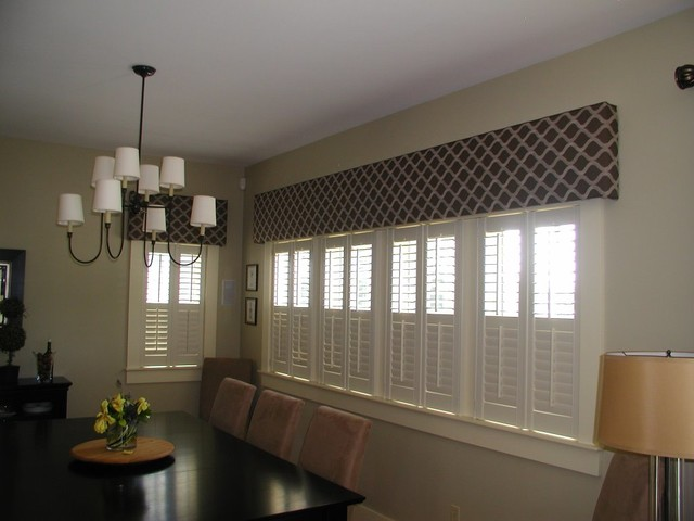 Window treatments contemporary dining room boston for Modern dining room window treatments