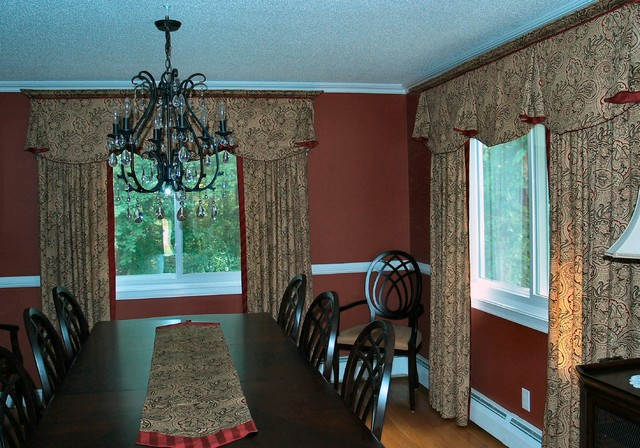 window treatments traditional dining room other