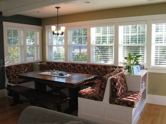 Windowed Breakfast Nook Traditional Dining Room