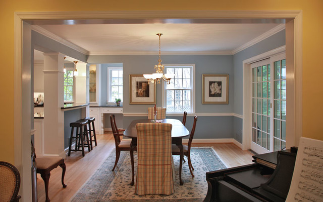 Windowless kitchen traditional dining room dc metro for Windowless kitchen ideas