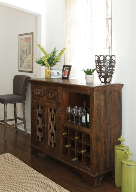 Wine cabinet buffet design for Dining room buffet cabinet designs
