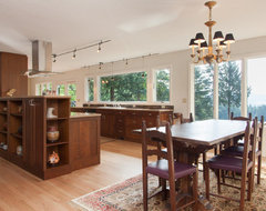 Wine country kitchen/family room contemporary dining room