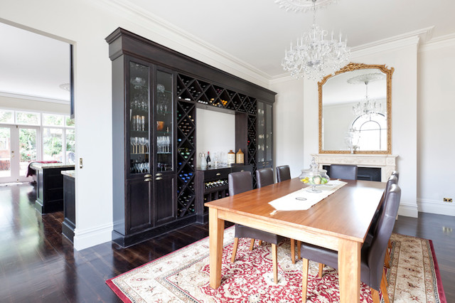 Wine Rack And Liquor Cabinet Traditional Dining Room