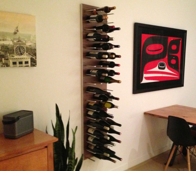 Wine storage for urban condo living - STACT Modular Wine Wall ...