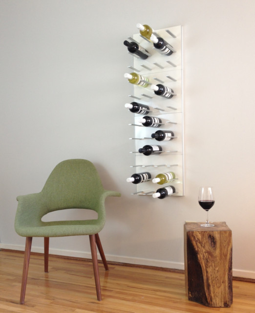 wine wall rack 4 panels pure white lacquer