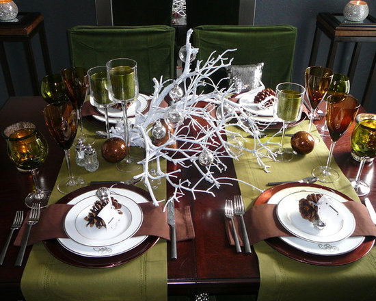 Оформление новогоднего стола своими руками фото