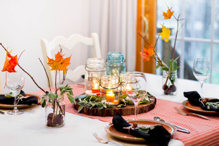 Winter Tablescape  dining room
