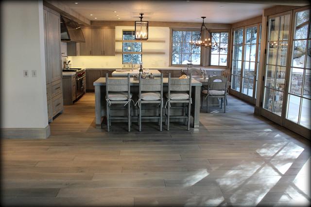 Wire brushed wide plank oak for Hardwood floor dealers