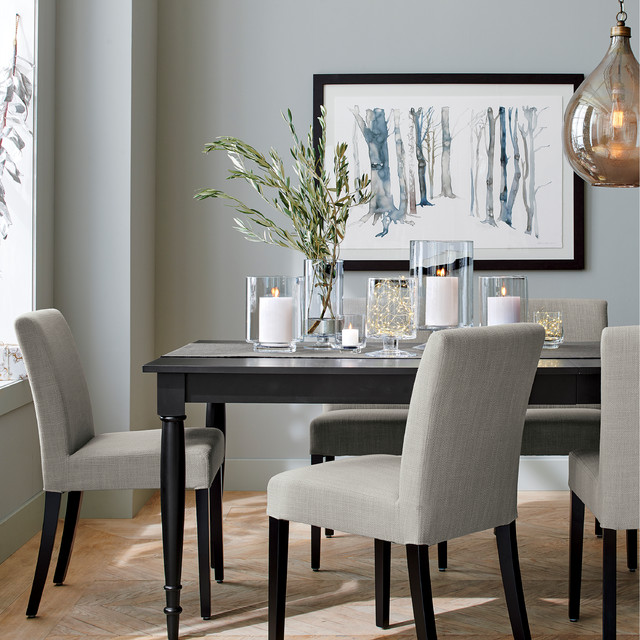 Wolcott extension dining table dining room chicago for Crate and barrel dining room ideas