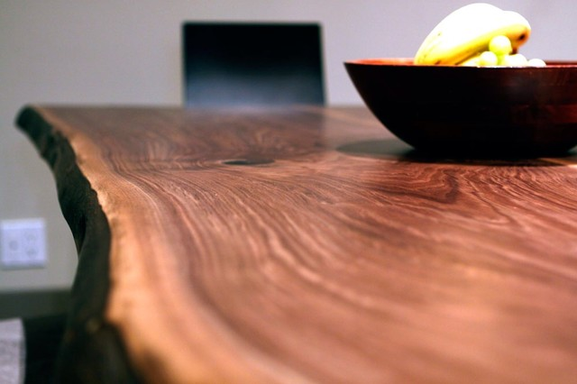 WOOD COUNTER LIVE EDGE SLAB COUNTERTOPS Dining Tables  contemporary-dining-room