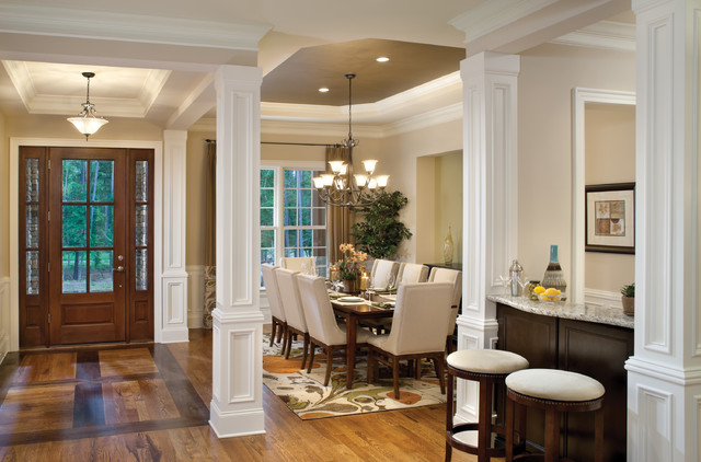 Woodcliff 1173 traditional dining room tampa by for Dining room designs with pillars