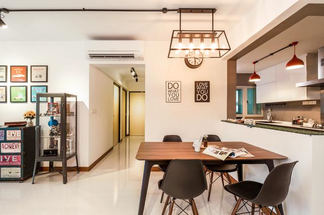 Woodcress HDB BTO Contemporary Dining Room