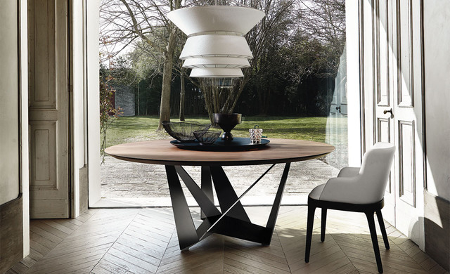 Wooden Dining Table Skorpio Round By Cattelan Italia