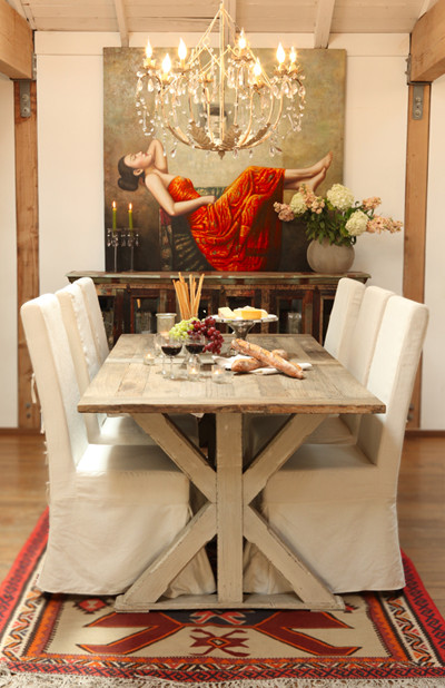 Woodland Creek Furniture Eclectic Dining Room