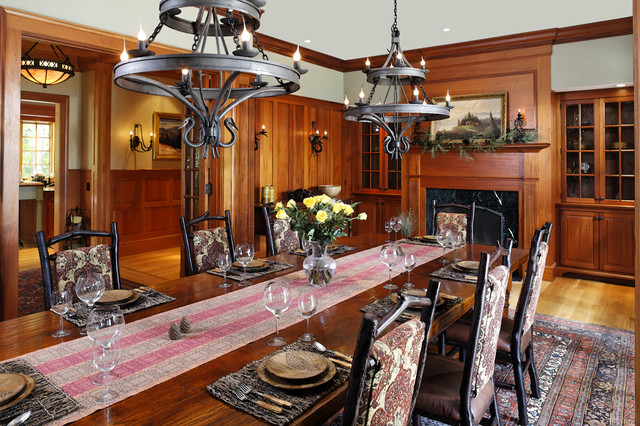 Woodland Point Dining Room rustic-dining-room